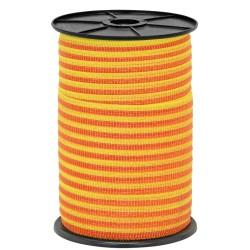 Páska 10 mm, nerez 4 x 0,16, 250 m, žluto-oranžová